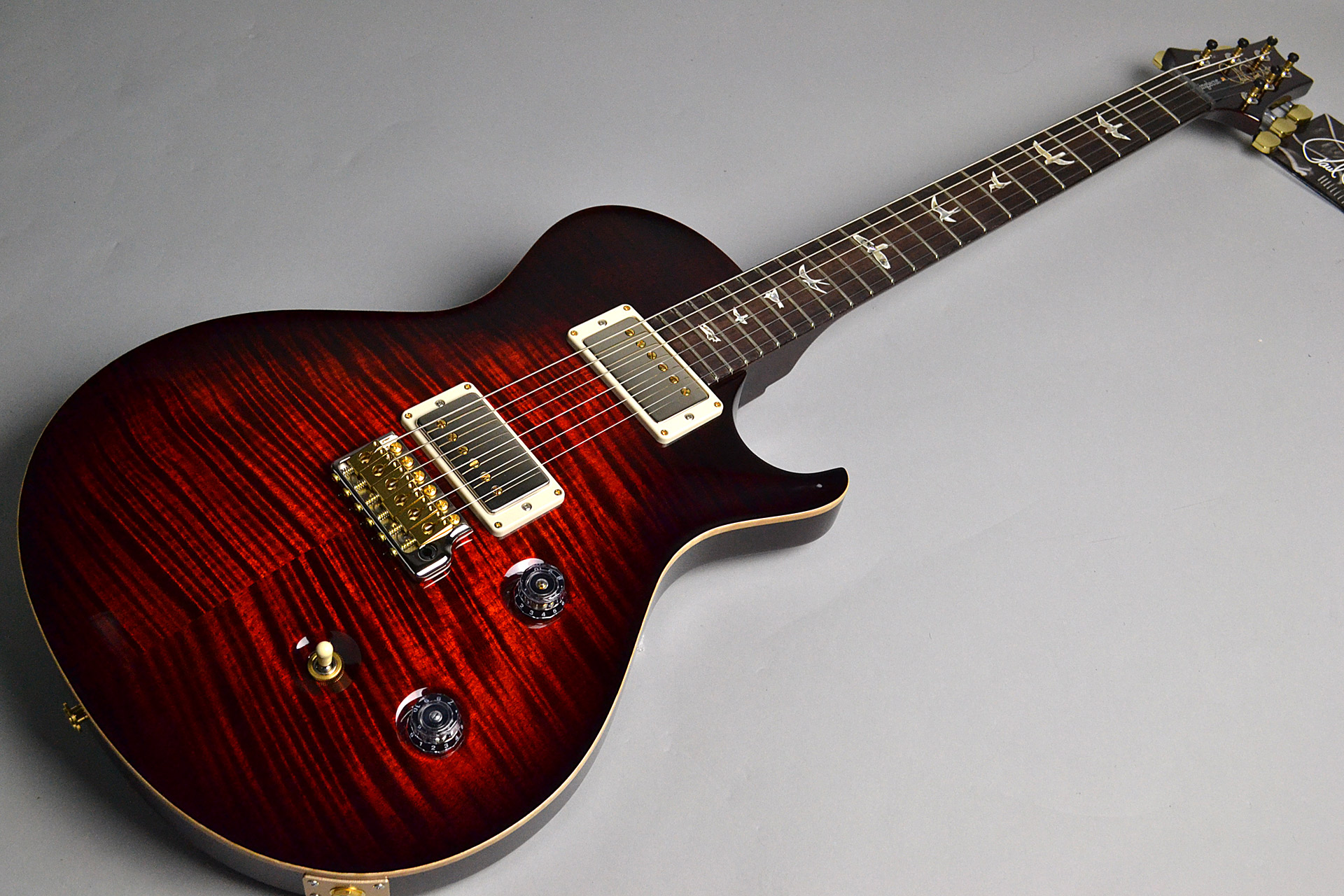 SINGLECUT TREM Wide Fat Neck Wood Library Fire Red Burst