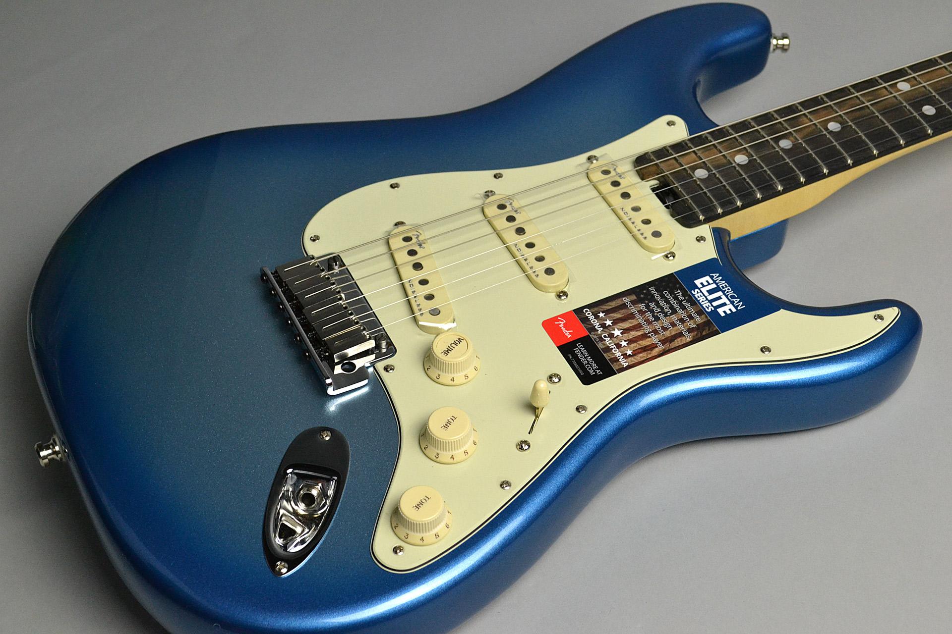 American Elite Stratocaster Sky Burst Metallicのボディトップ-アップ画像