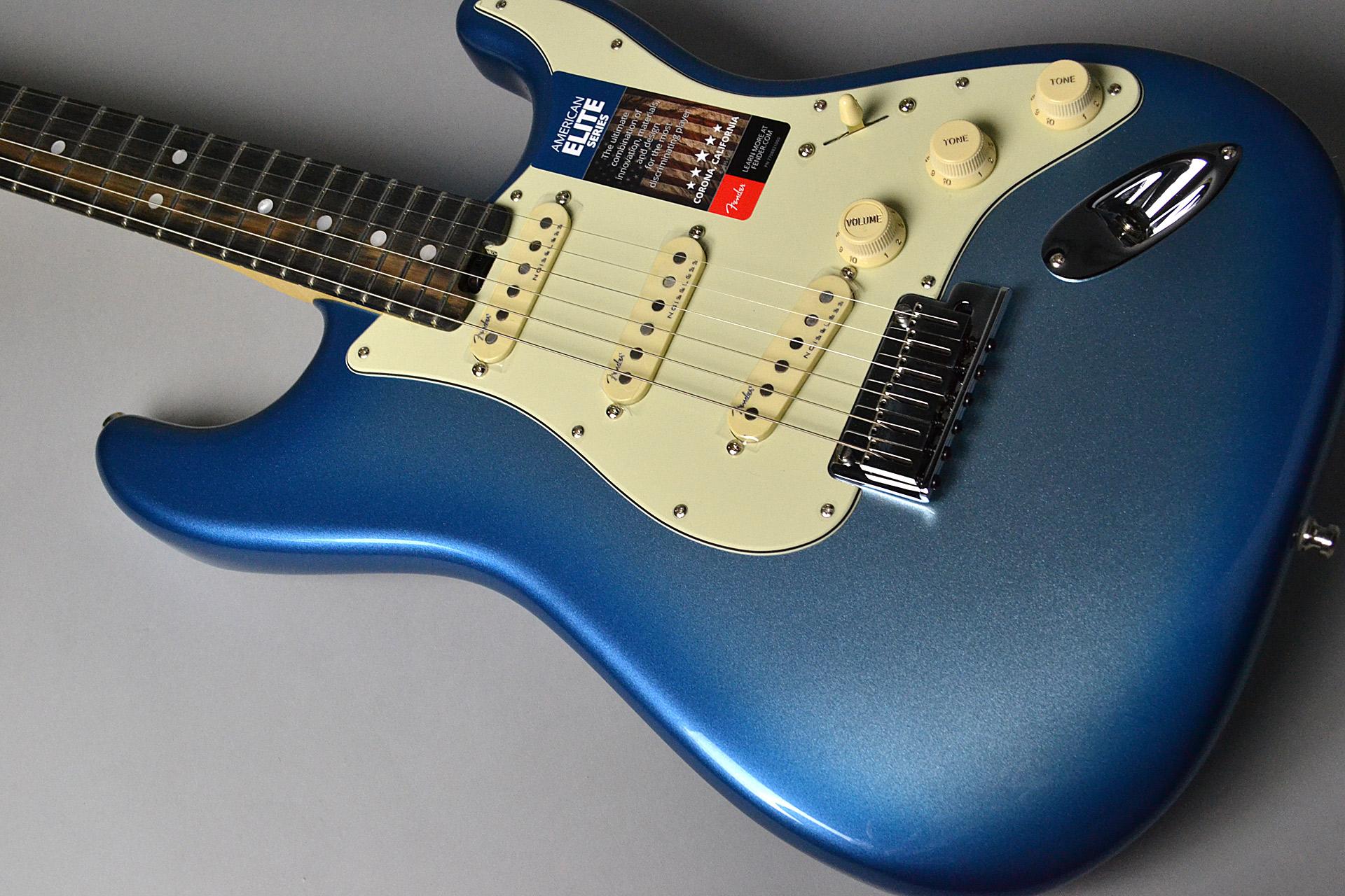 American Elite Stratocaster Sky Burst Metallicの全体画像(縦)