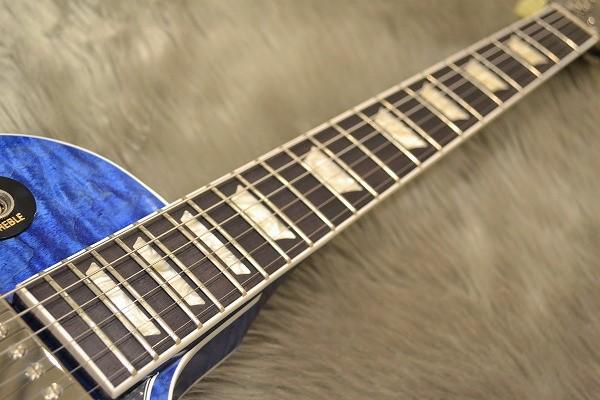 ES-LP Blue Stainの指板画像