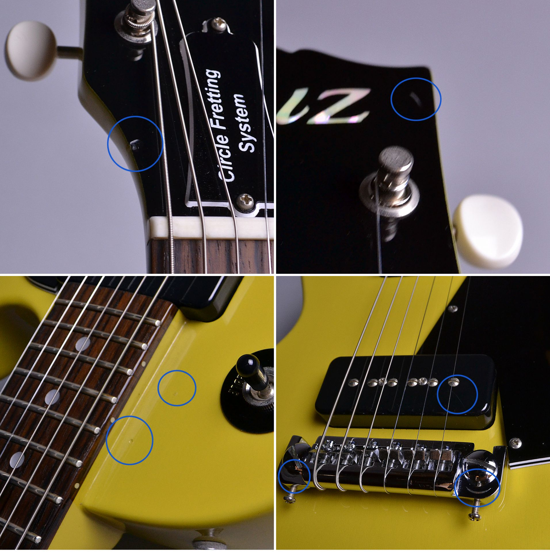 ZLJ1 Les Paul Special Type TV Yellow (TVY) 【S/N:J091638】の指板画像
