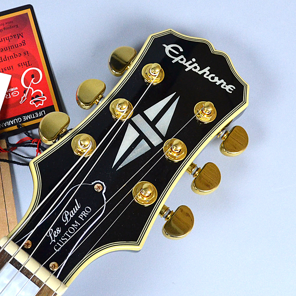 Les Paul CUSTOM PRO (ProBuckers & Coil-Tapping)のヘッド裏-アップ画像