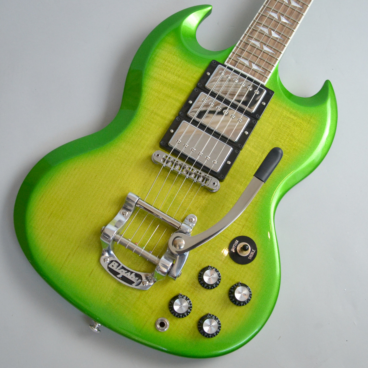 SG Deluxe Lime Burst with Bigsby