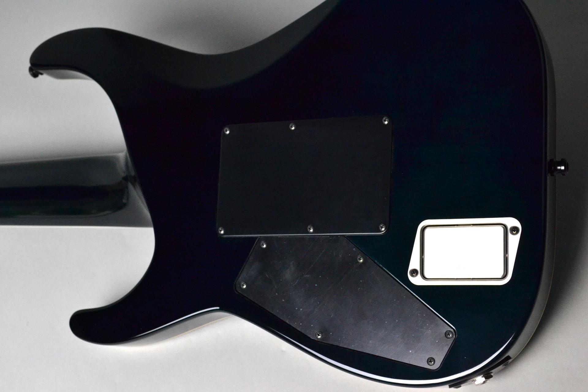 HORIZON FR-7 QM Black Turquoise Burstのボディバック-アップ画像