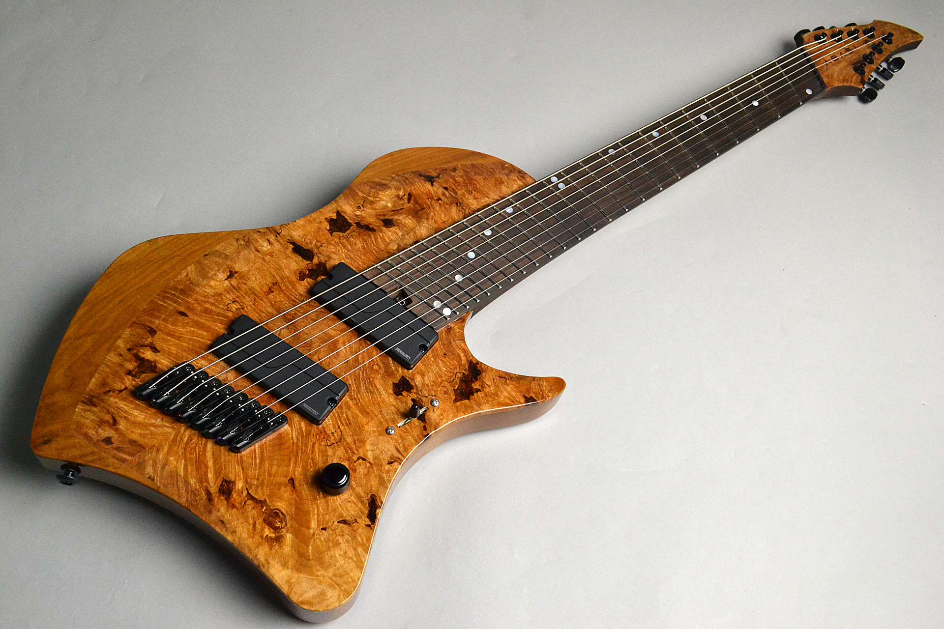 Abasi Guitars 8st Multi Scale(Fanned Fret) Burl/Ebony Natural Stain