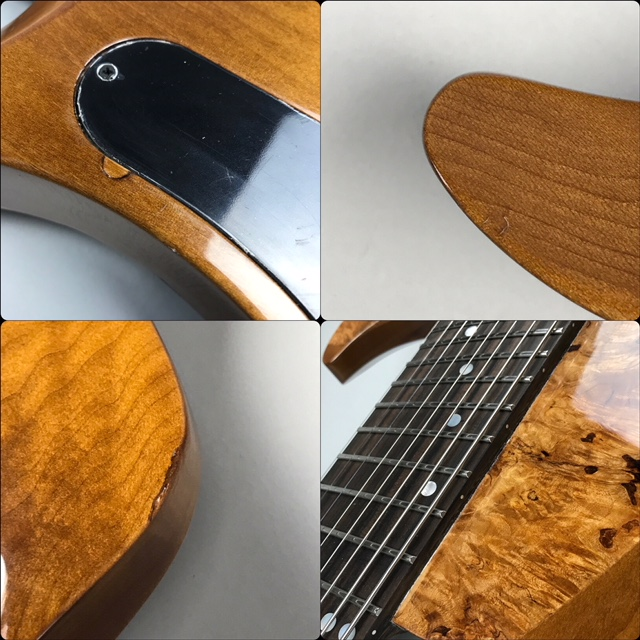 Abasi Guitars 8st Multi Scale(Fanned Fret) Burl/Ebony Natural Stainの全体画像(縦)