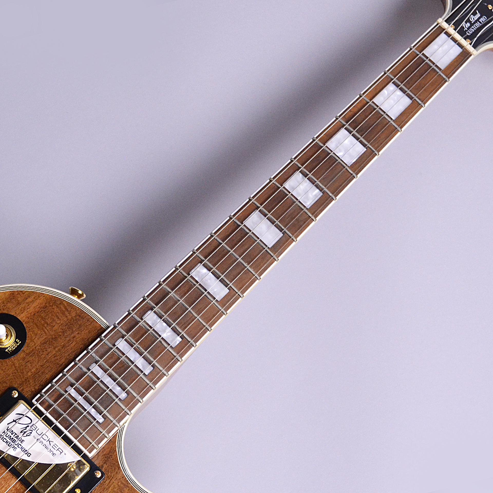 Limited Edition Les Paul Custom PRO KOAの指板画像