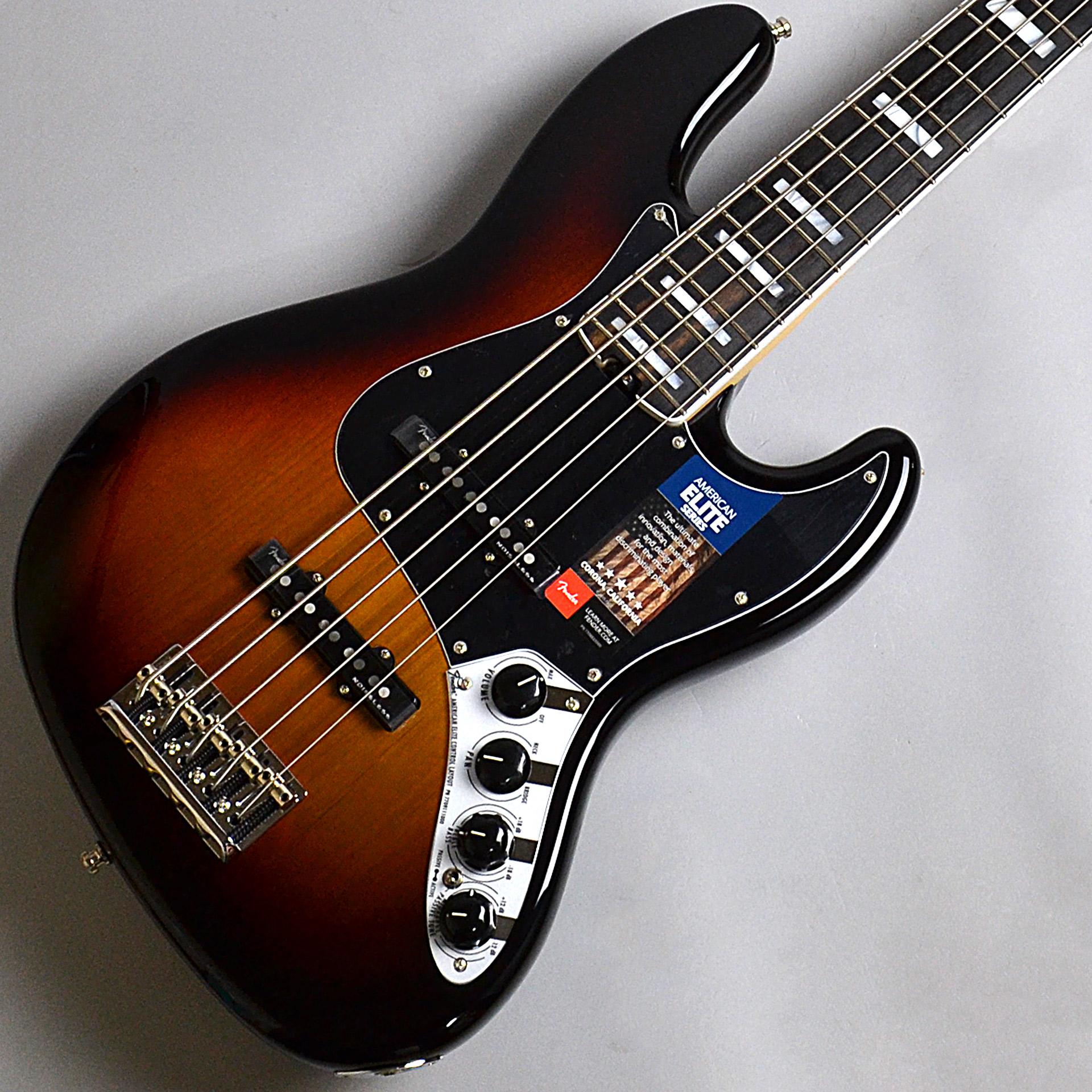Fender  American Elite Jazz Bass V, Ebony Finge... 写真画像