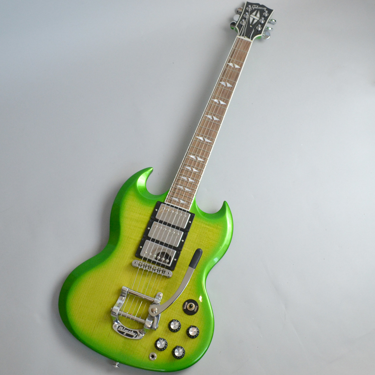 SG Deluxe Lime Burst with Bigsbyのボディトップ-アップ画像