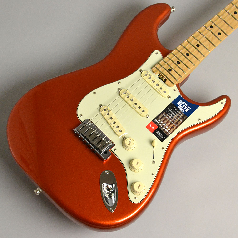 AMERICAN ELITE STRATOCASTER/MAPLE Autumn Blaze Metallicのボディトップ-アップ画像