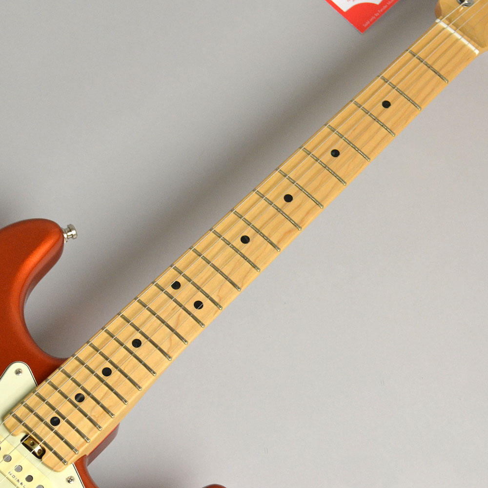 AMERICAN ELITE STRATOCASTER/MAPLE Autumn Blaze Metallicの指板画像