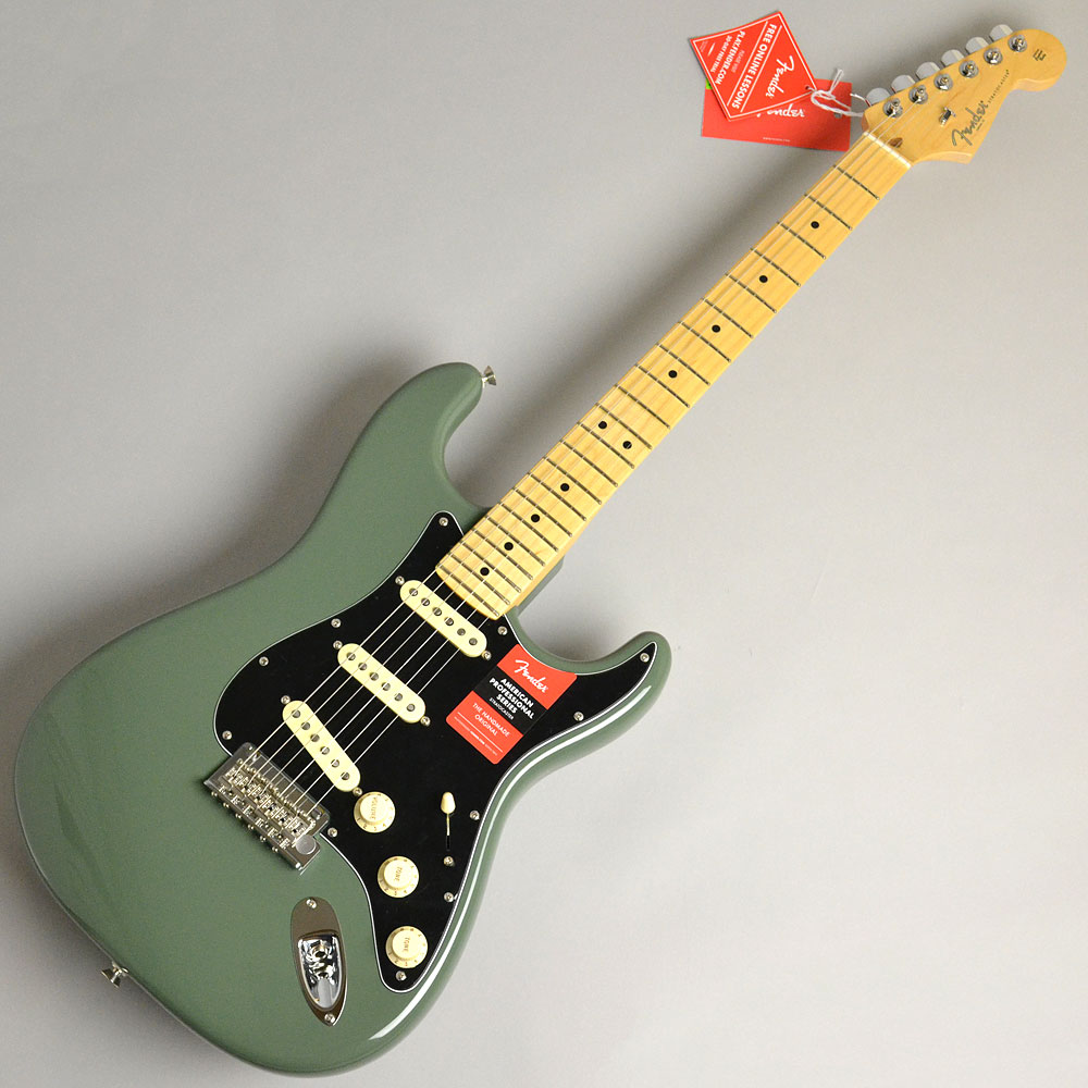 AMERICAN PROFESSIONAL STRATOCASTER/MAPLE Antique Olive
