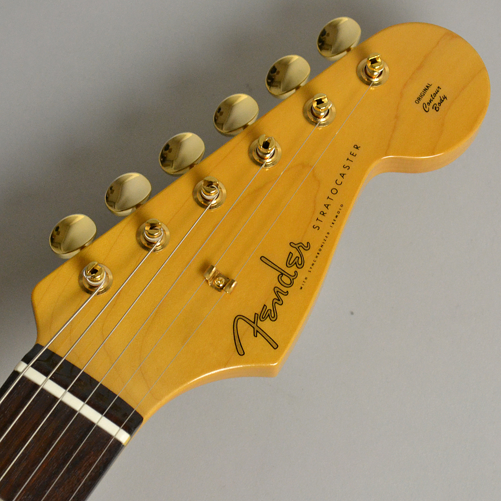 MADE IN JAPAN TRADITIONAL 60S STRATOCASTER Gold Hardware US Blondeのヘッド画像