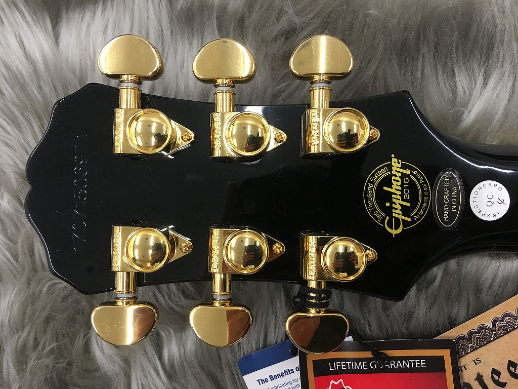Les Paul CUSTOM PROのヘッド裏-アップ画像