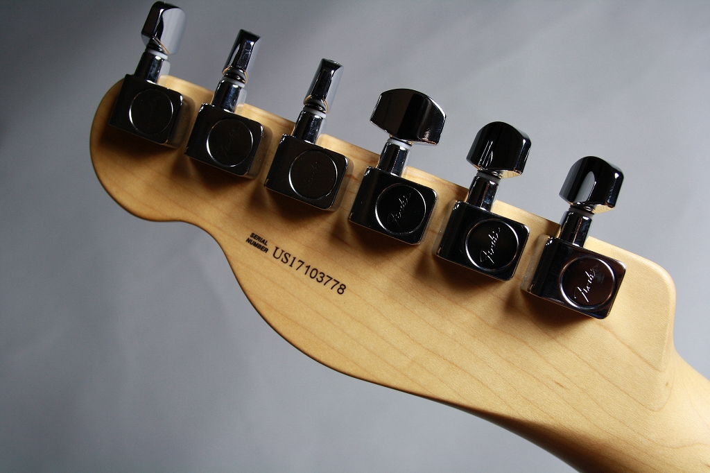 American Pro Telecaster Rosewood Fingerboardのヘッド裏-アップ画像
