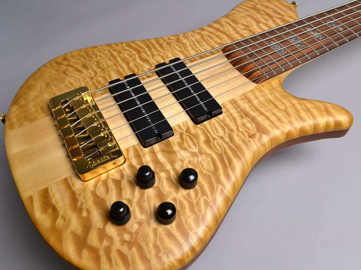 USA NS6XL SC 5A Quilted Maple Topの指板画像