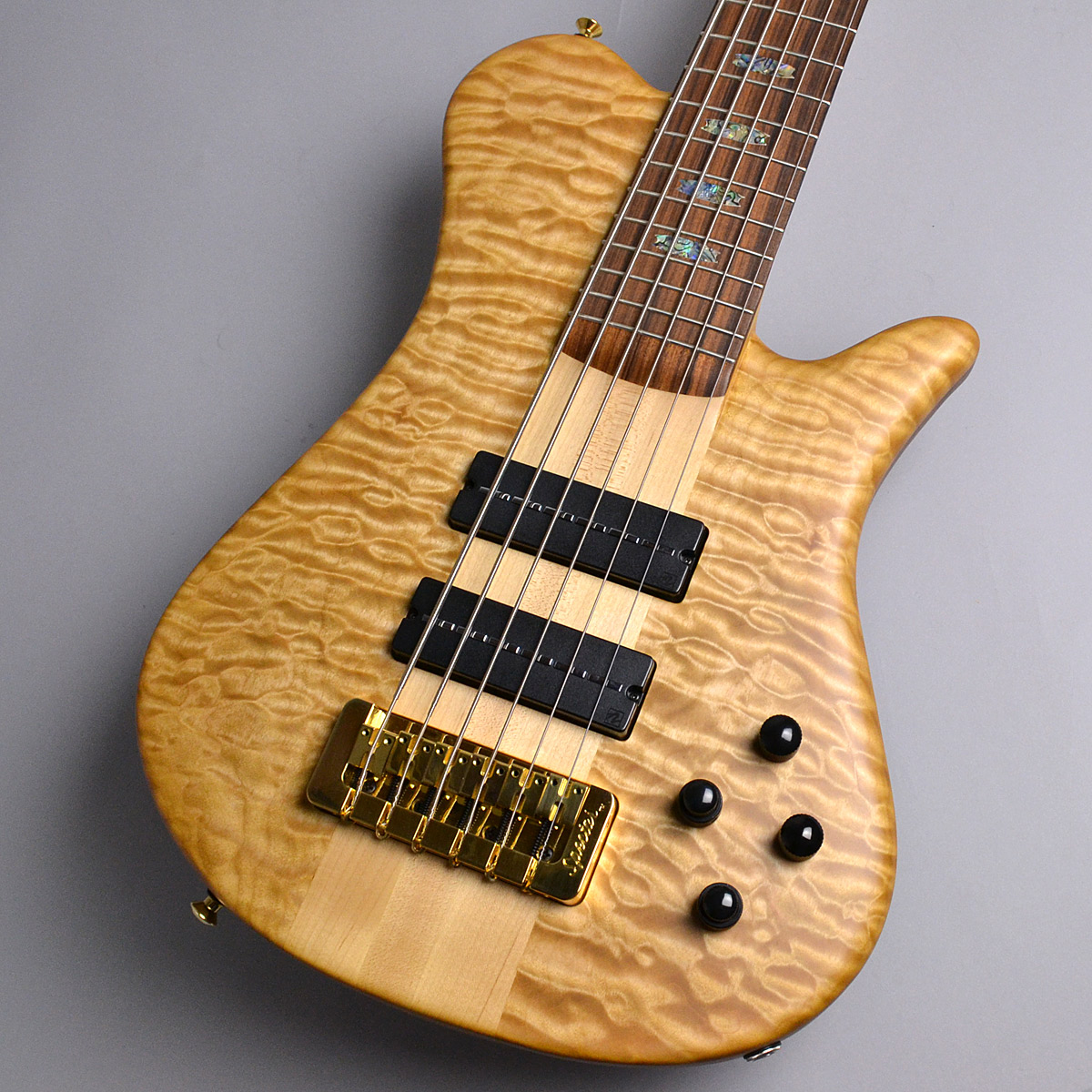 USA NS6XL SC 5A Quilted Maple Topのボディトップ-アップ画像