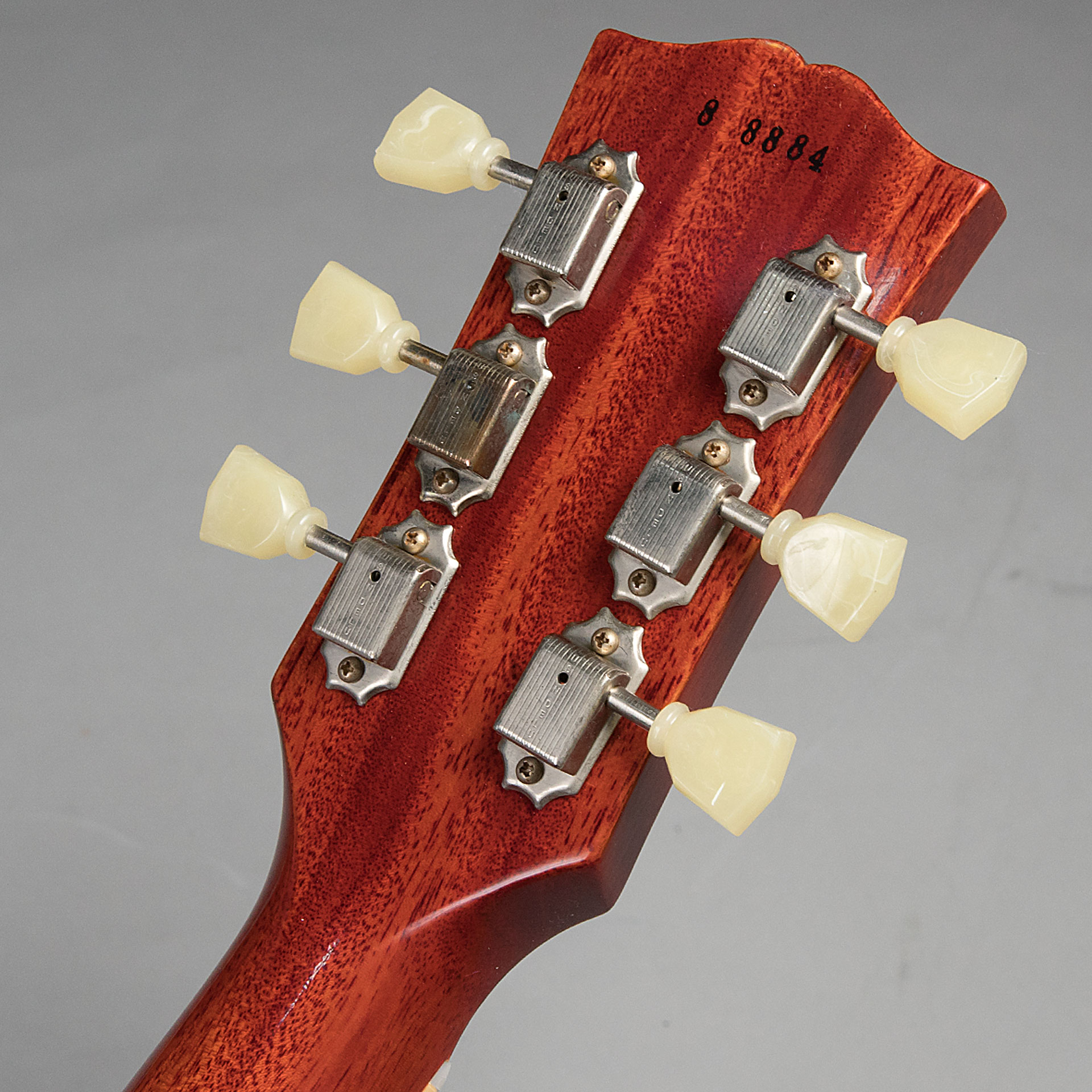 1958 Les Paul Standard Hard Rock Maple VOSのヘッド裏-アップ画像