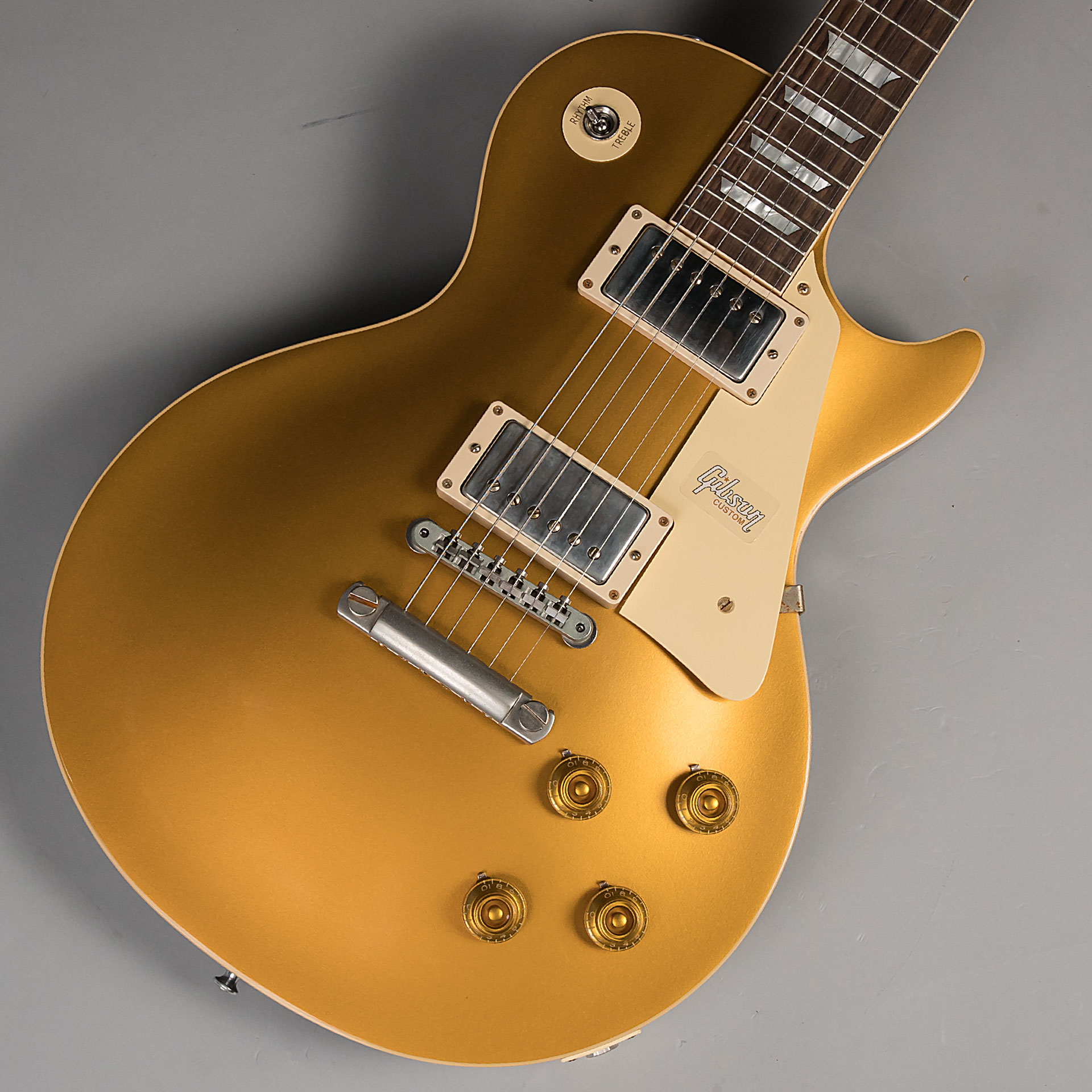 57 Les Paul Gold Top DB VOSのボディトップ-アップ画像