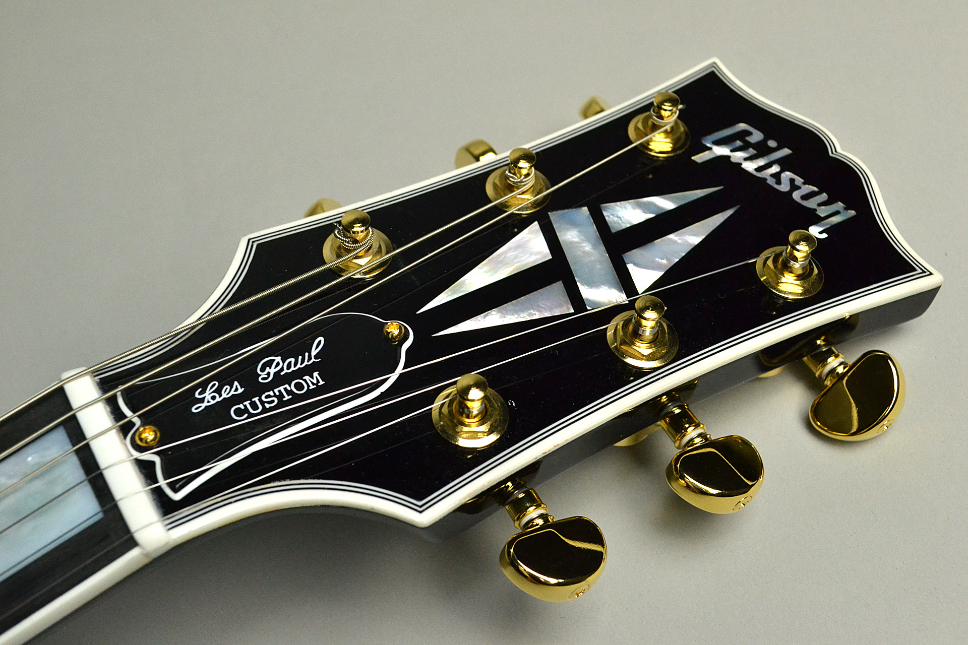Les Paul Custom 2018 Ebonyのヘッド画像