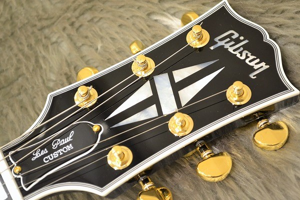 Les Paul Custom Ebony GHのヘッド画像