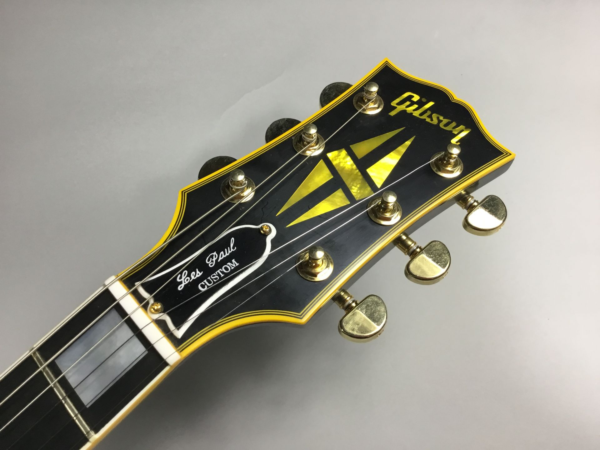 Les Paul Custom VOS Antique Ebony 1968仕様のヘッド画像