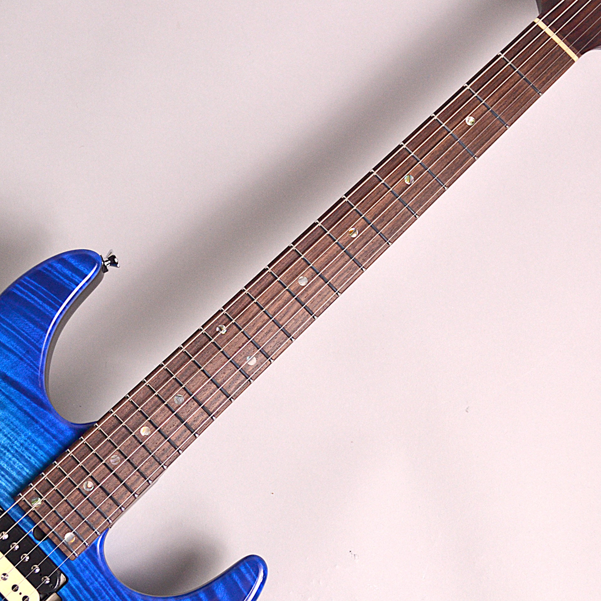 T's Guitars DST24 Custom Made Trance Blue Burst  #A2の指板画像