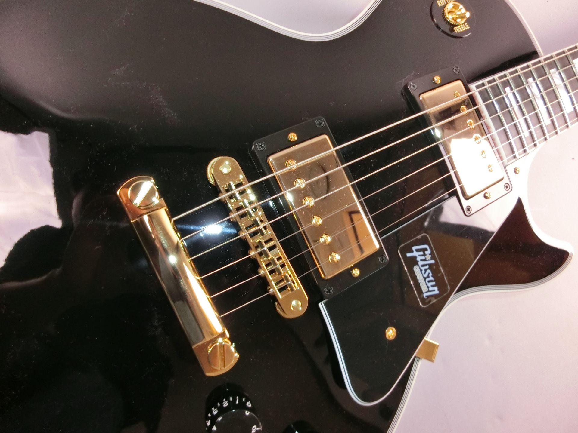 Les Paul Custom Ebony GHのボディトップ-アップ画像
