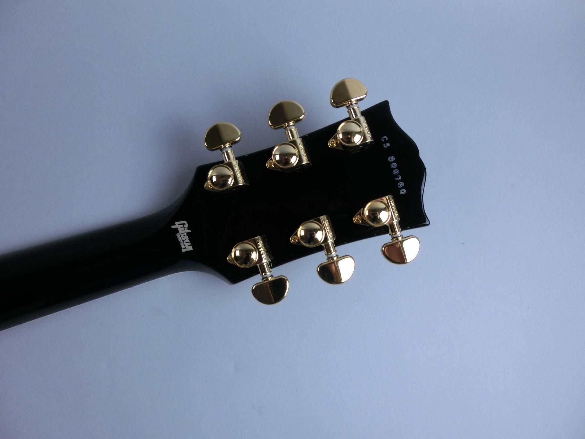 Les Paul Custom Ebony GHのヘッド裏-アップ画像