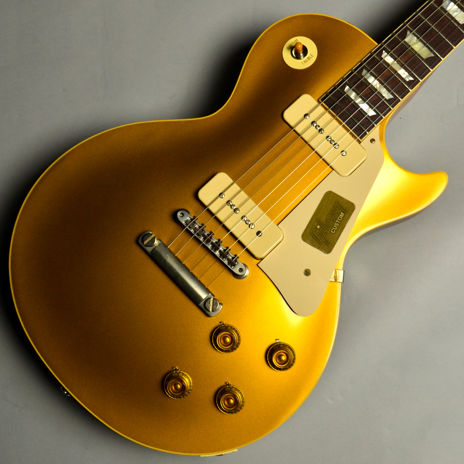 1956 Les Paul Standard Reissue VOS PSL Antique Goldのボディトップ-アップ画像