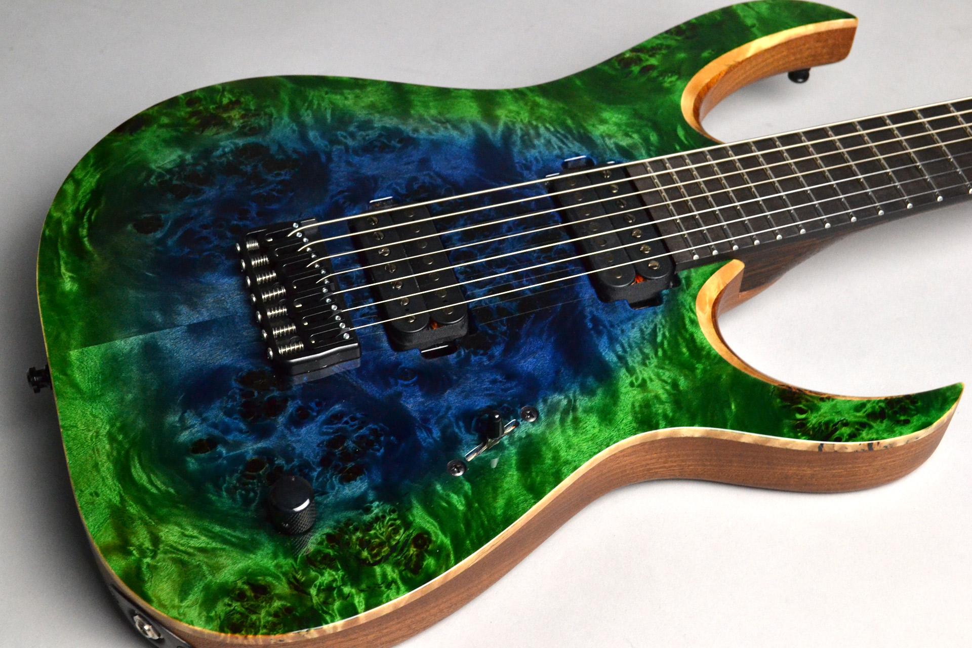 Duvell Elite 7 Trans Green Blue Burst Glossのボディトップ-アップ画像