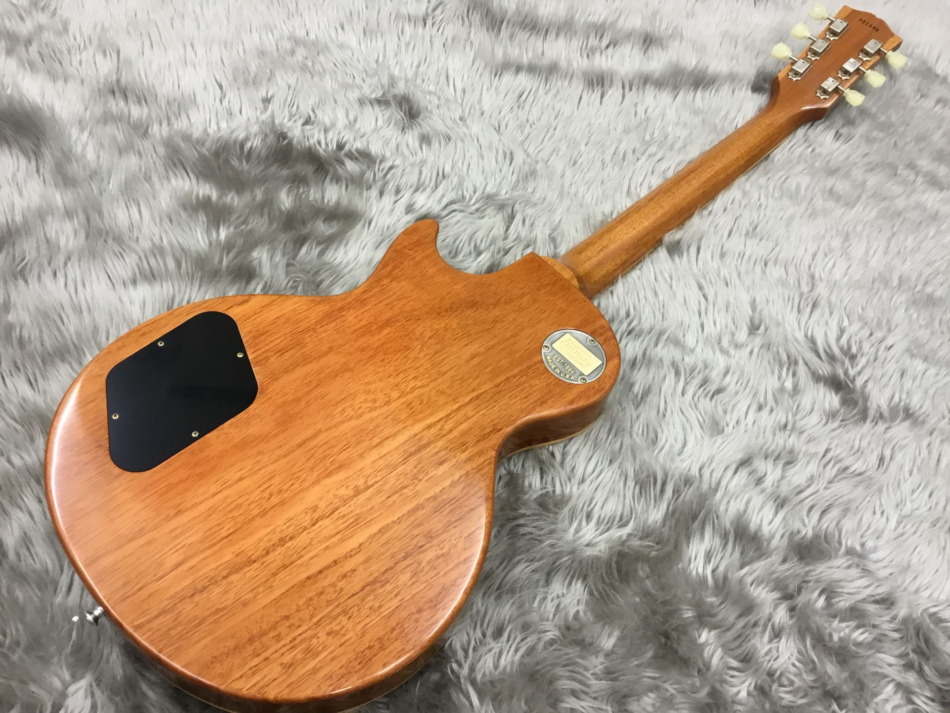 2017 Limited Run 1958 Les Paul Model Hard Rock Maple VOSのヘッド裏-アップ画像