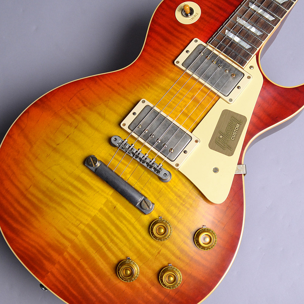2017 Limited Run 1958 Les Paul Model Hard Rock Maple VOSのボディトップ-アップ画像