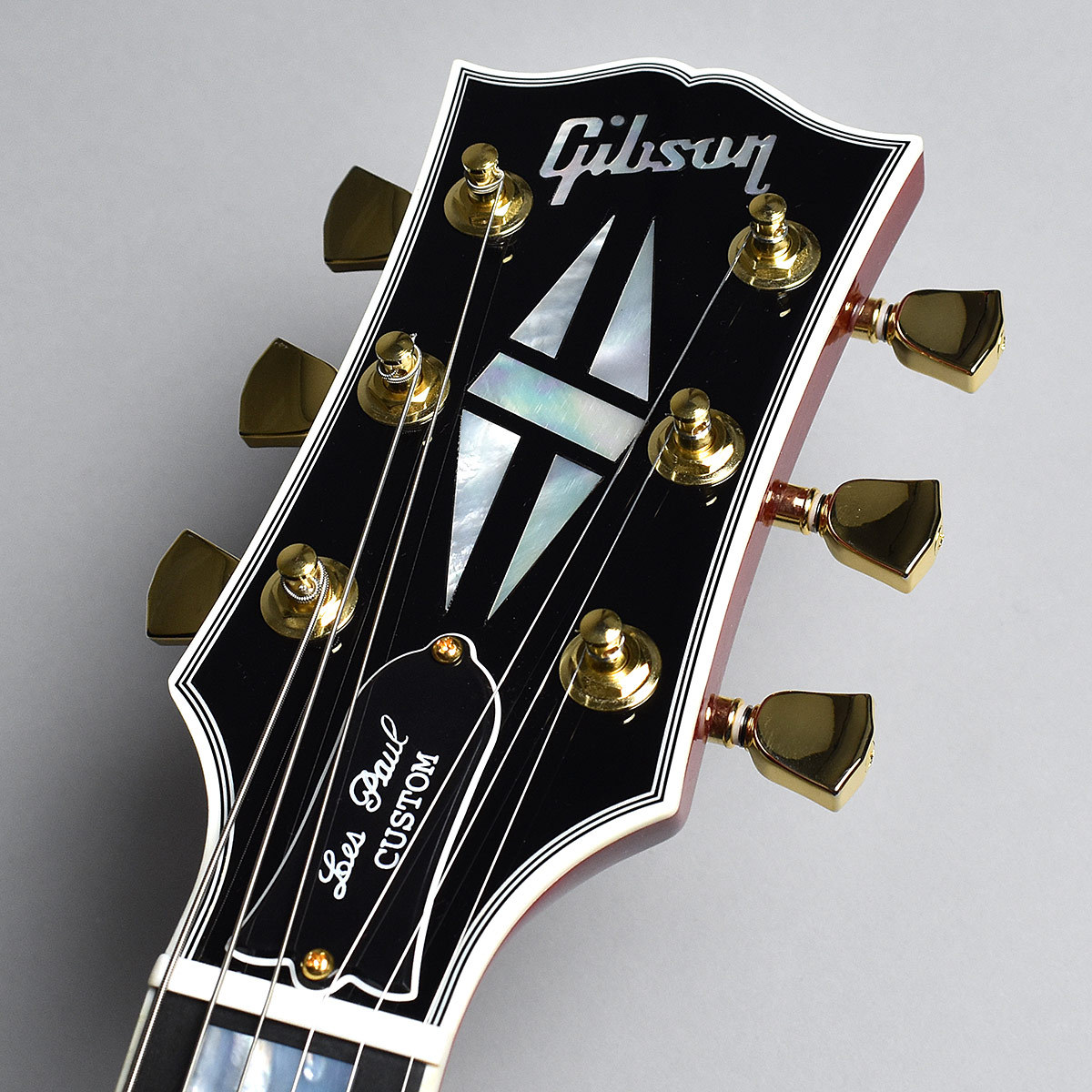 Les Paul Custom Wine Redのヘッド画像