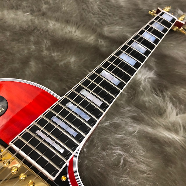 LP Custom Figuredの指板画像