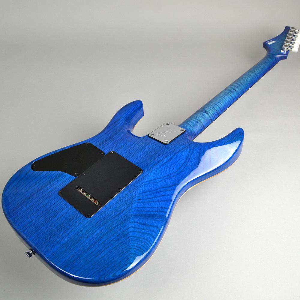 DST-Pro24 FlameNeck Trans Blue Burstの指板画像