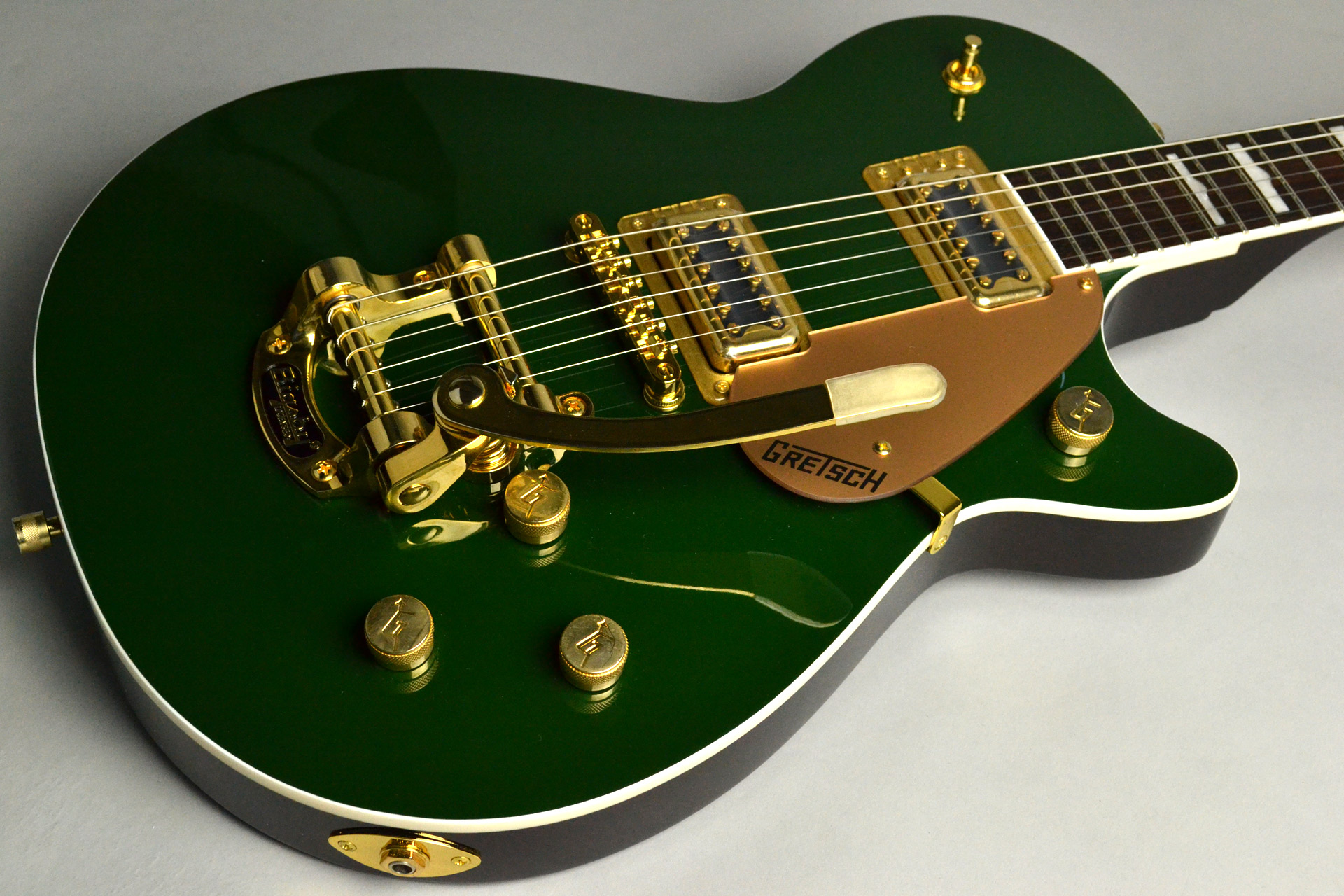 G5435TG Limited Edition Pro Jet™ with Bigsby® Cadillac Greenのボディトップ-アップ画像
