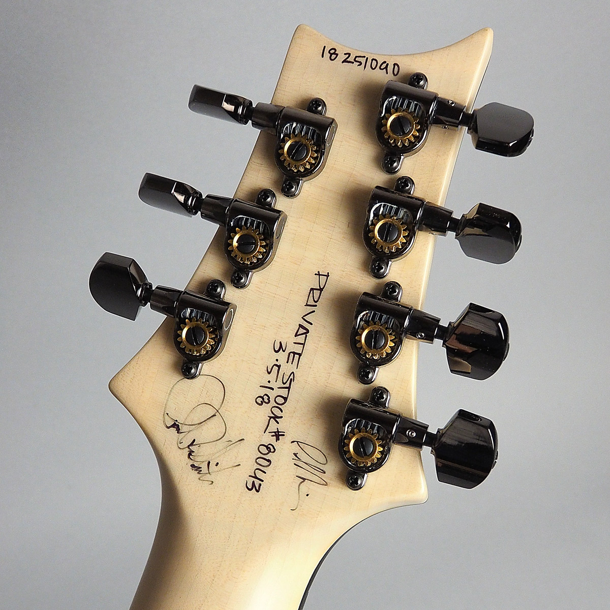 Private Stock #8043 McCarty 7stのヘッド裏-アップ画像