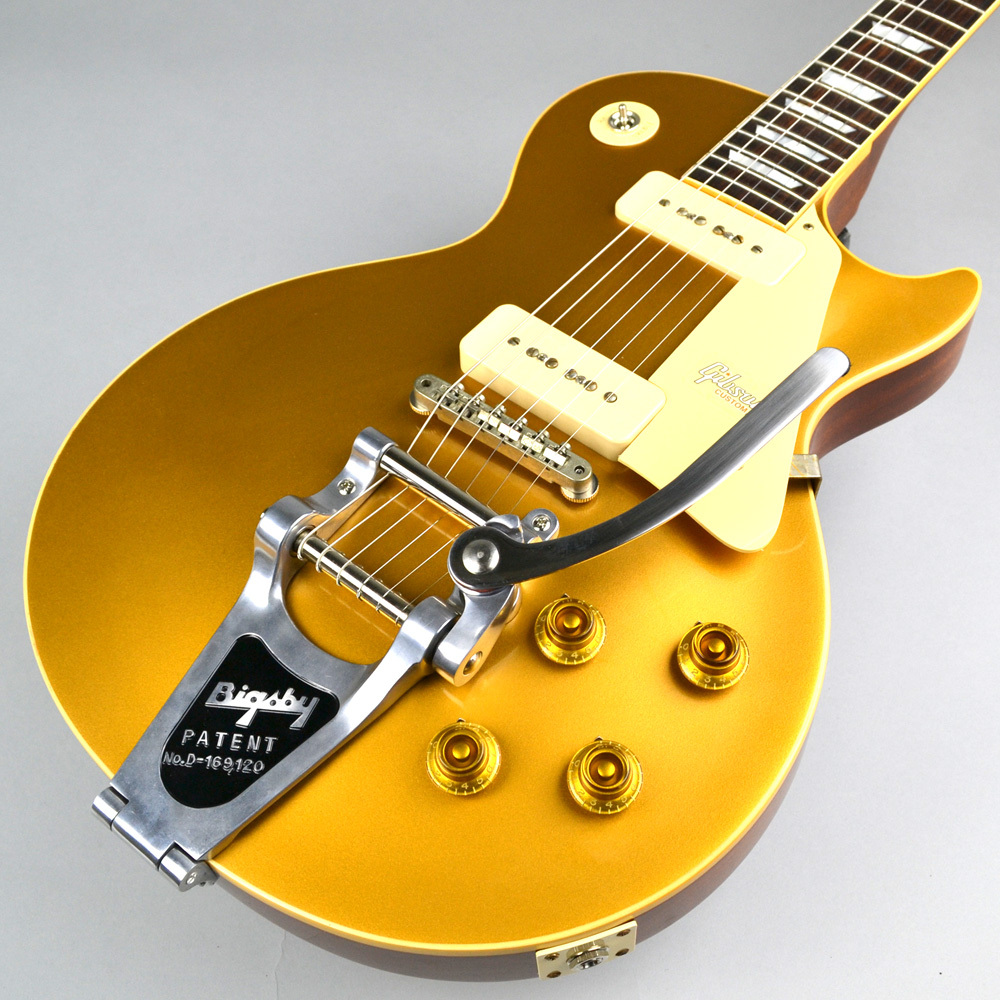 1956 LES PAUL REISSUE HRM GOLD TOP VOS w/BIGSBY