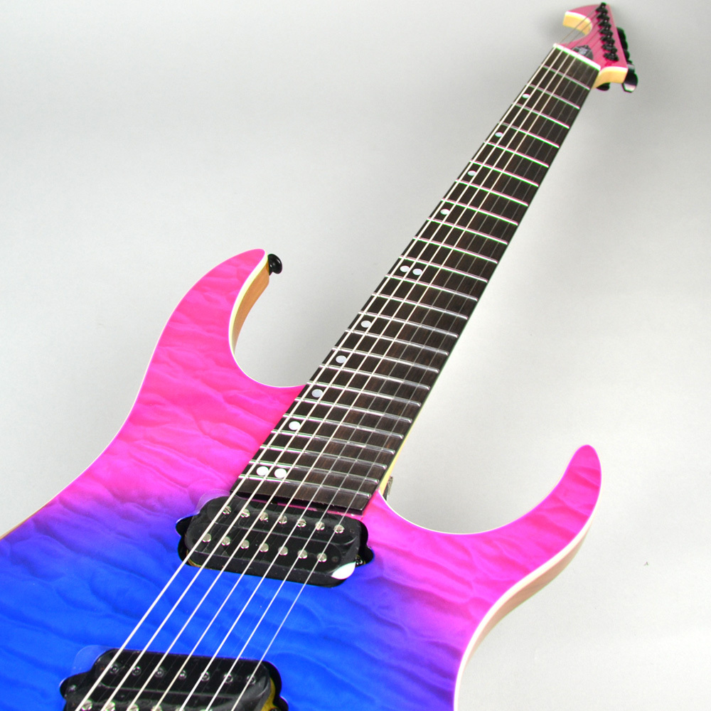 HypeGTR MULTISCALE Quilt Top Dragonburst 7stringsのボディトップ-アップ画像