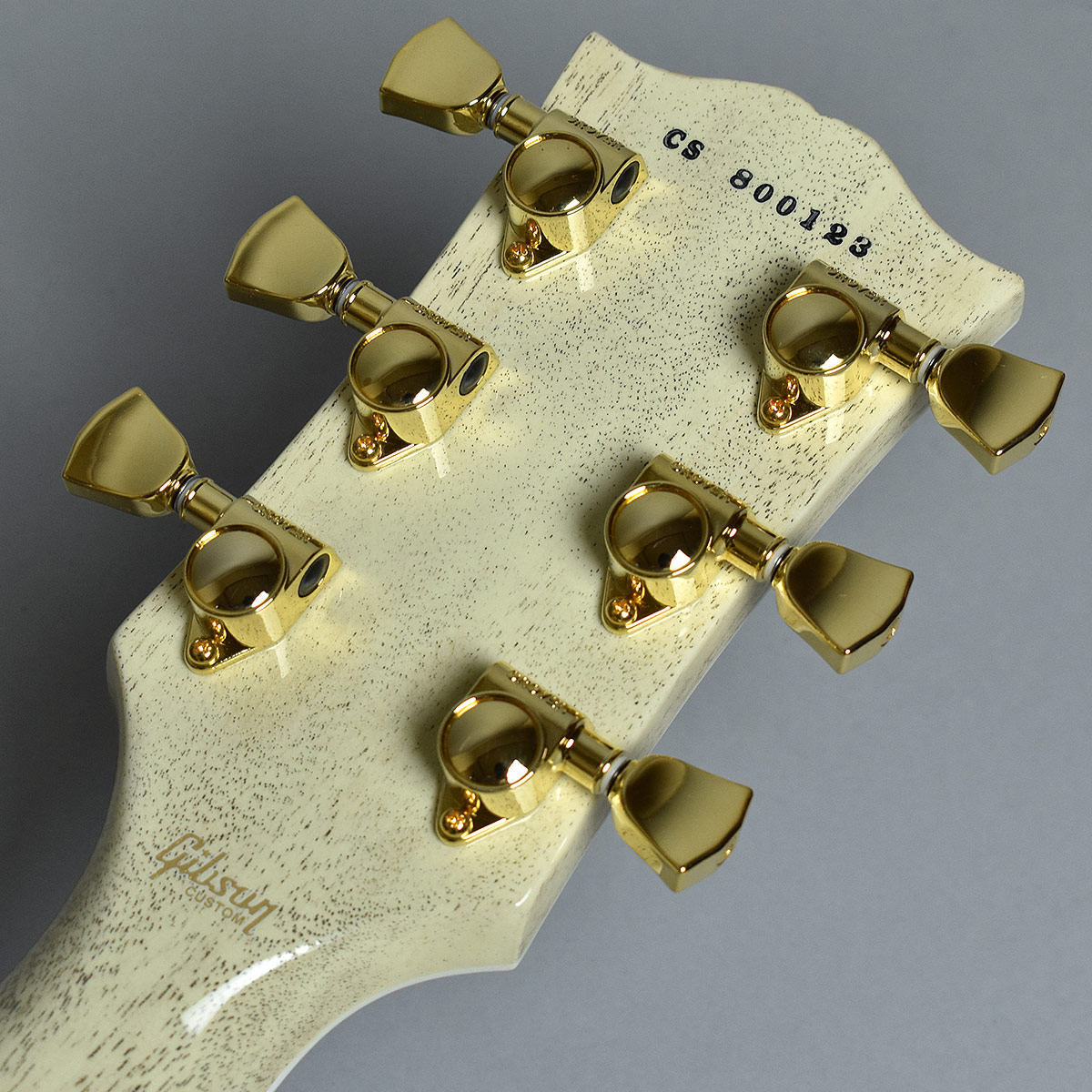 Gibson Custom Shop Hand Picked Limited Les Paul Custom 5A Quiltのヘッド裏-アップ画像