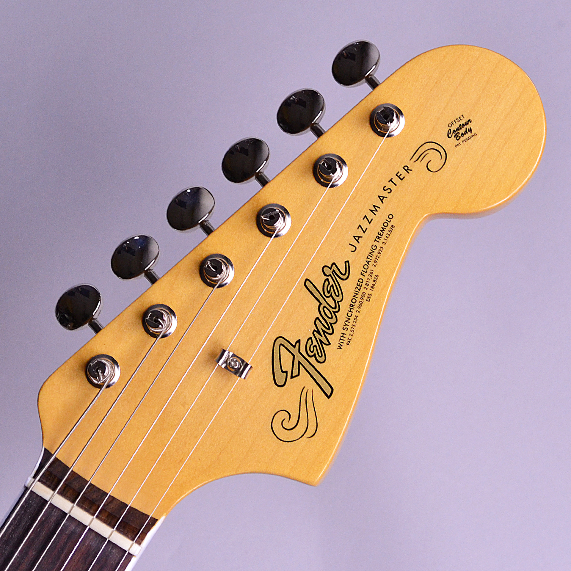 American Original '60s Jazzmasterのヘッド裏-アップ画像