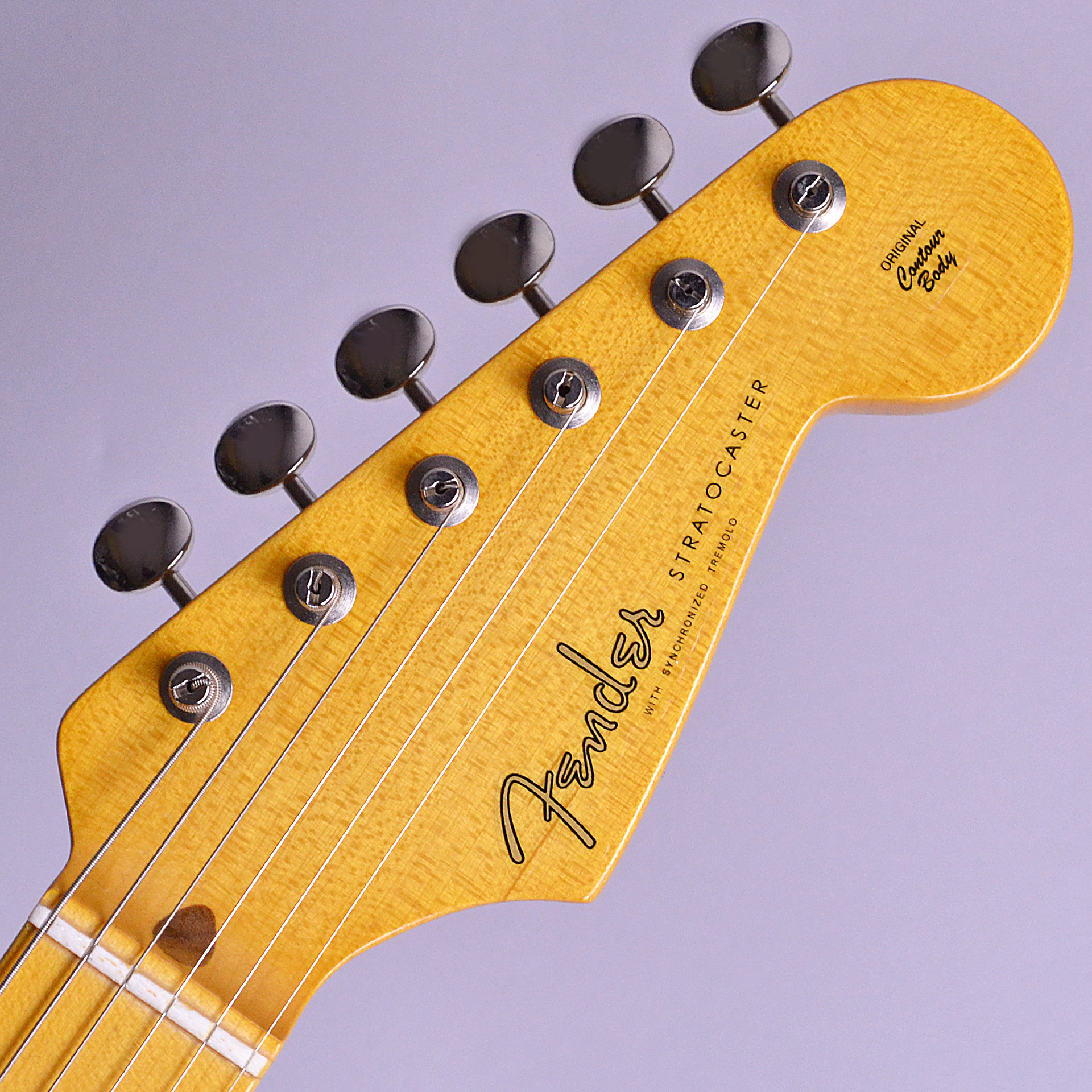 Eric Johnson Signature Thinline Stratocasterのヘッド裏-アップ画像