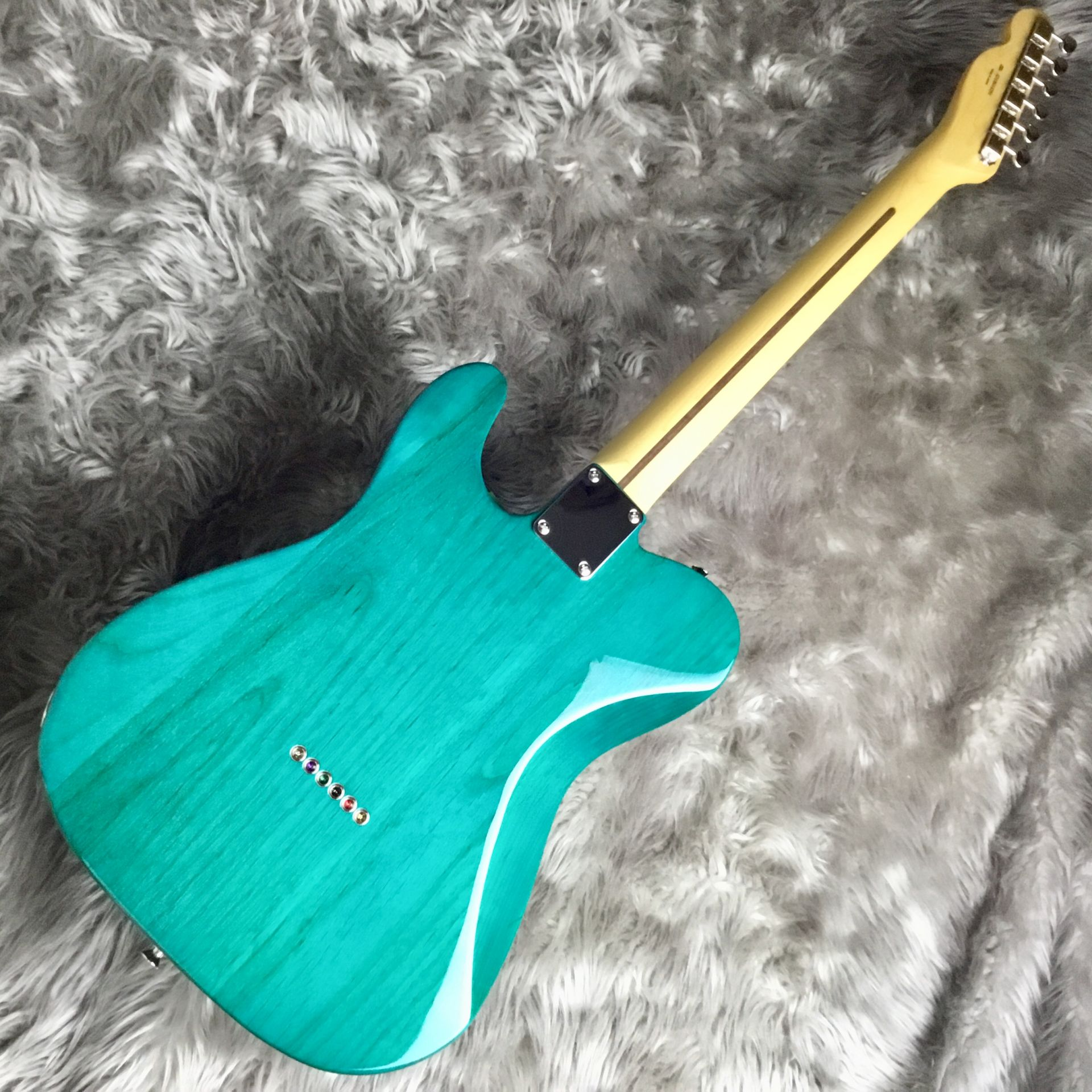 Hybrid 60s Telecaster Quilt Top/Transparent Greenのヘッド画像