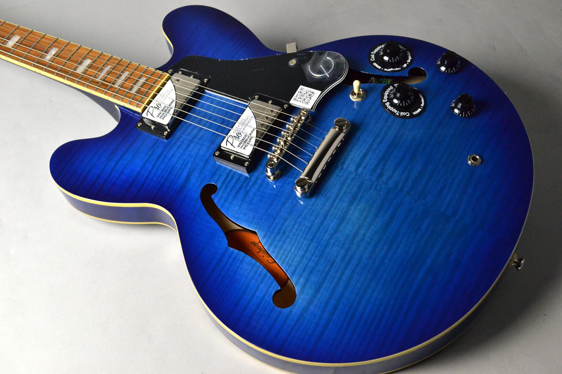 Limited Edition ES-335 Pro Blueberry Burst ET3PBBNH3の全体画像(縦)