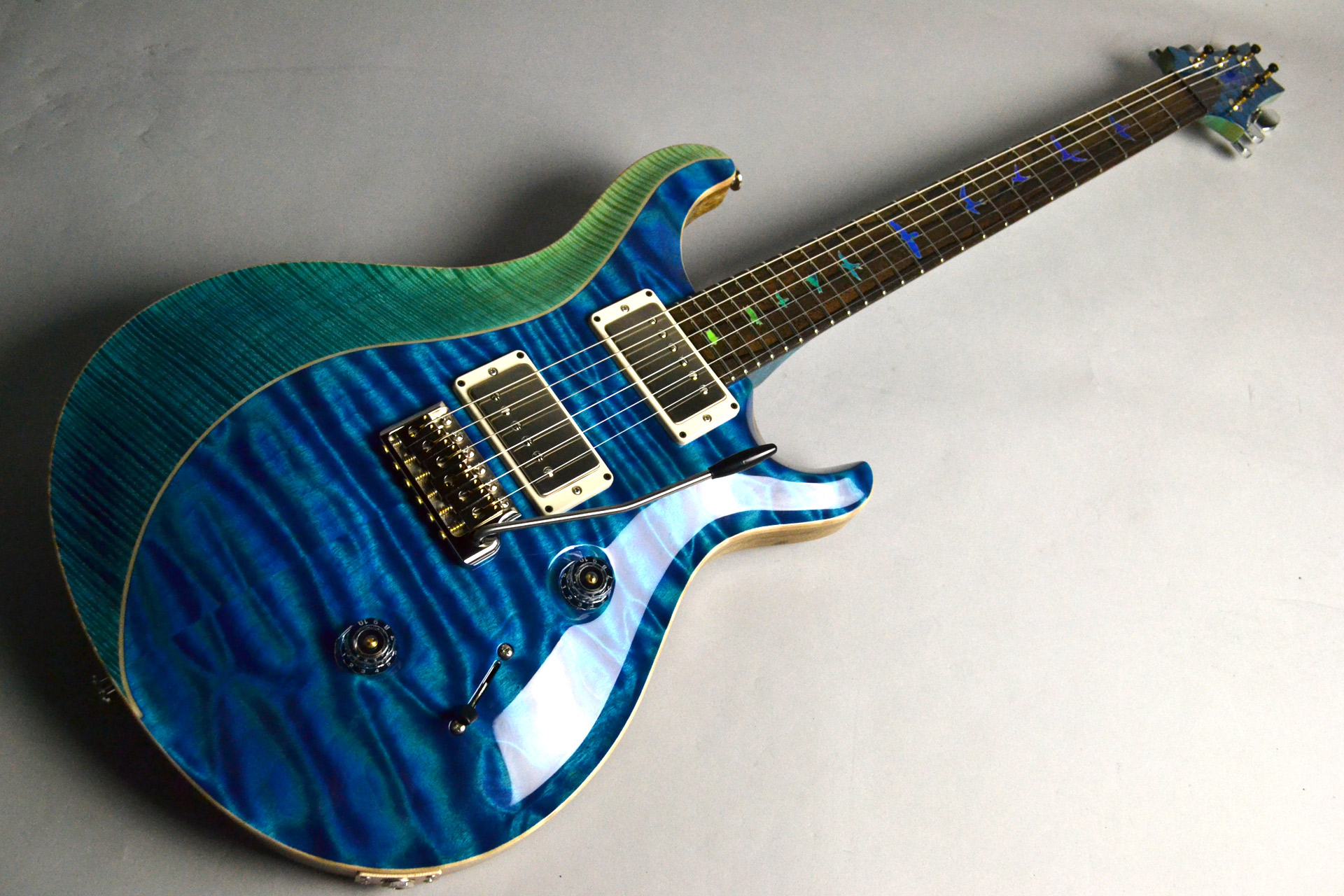 Private Stock #7659 Custom24 3-piece Top Aquamarine&Blue Fade,Luminlay Purfling