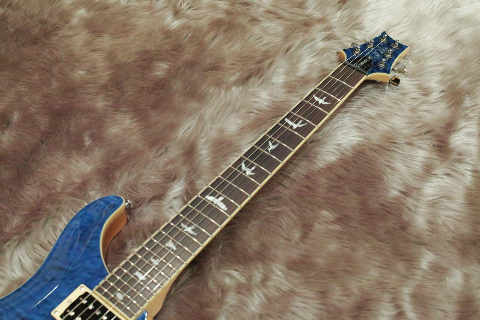 SE Custom 24 QM LTD Blue Matteo【島村限定モデル!】の指板画像