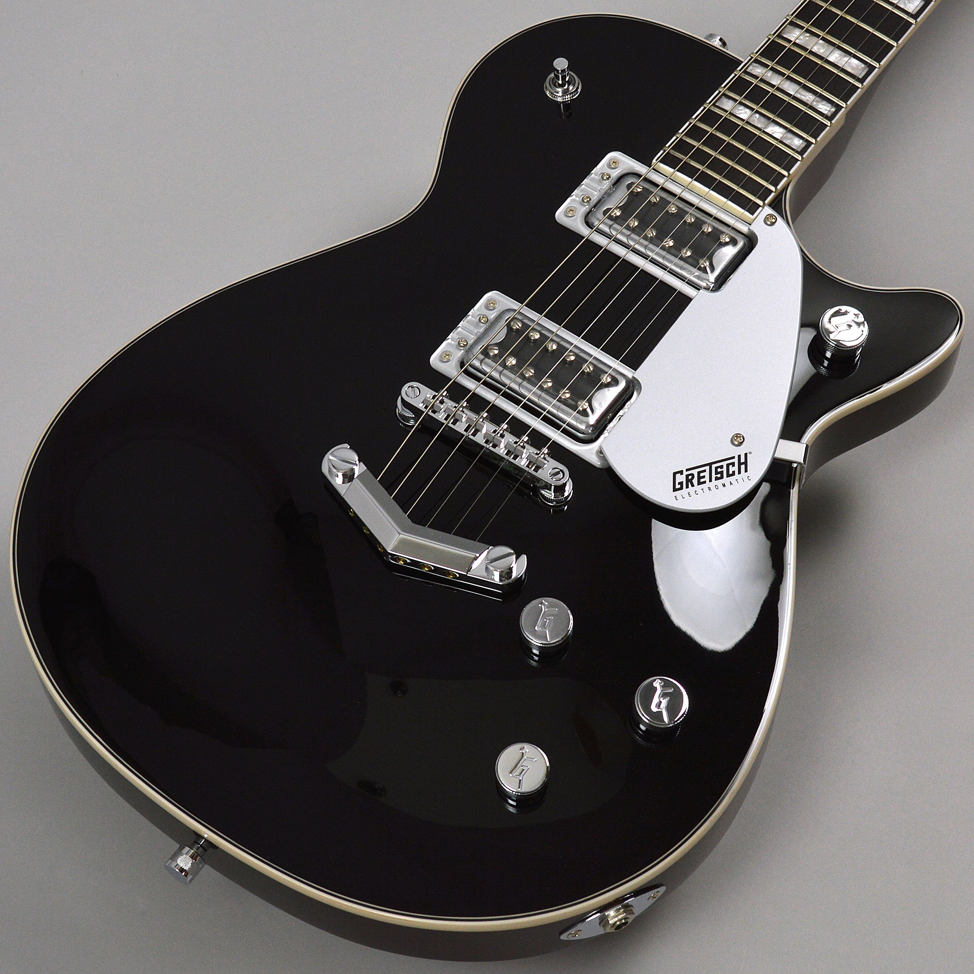 G5220 Electromatic Jet BT Single-Cut with V-Stoptail Blackのボディトップ-アップ画像