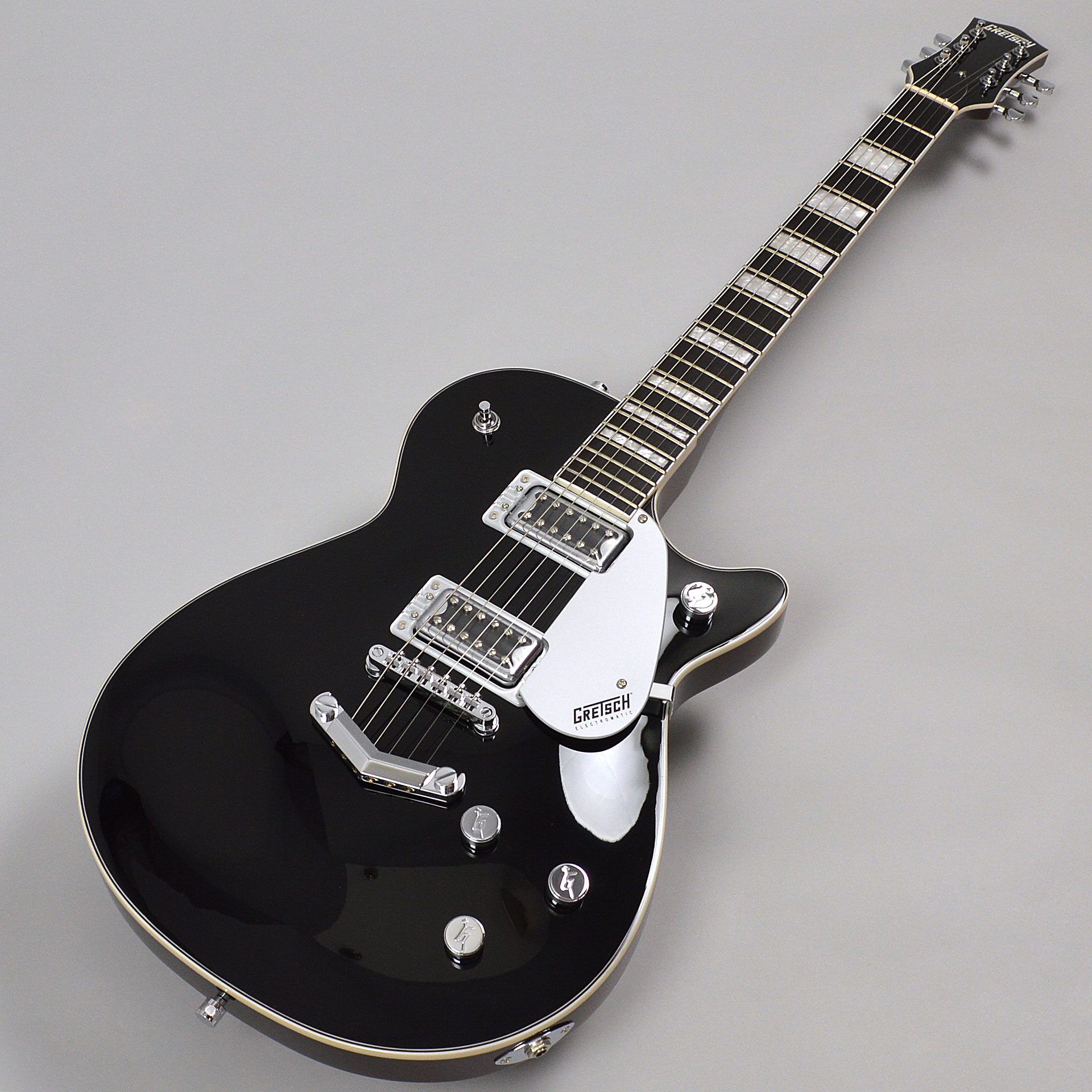 G5220 Electromatic Jet BT Single-Cut with V-Stoptail Blackの全体画像(縦)