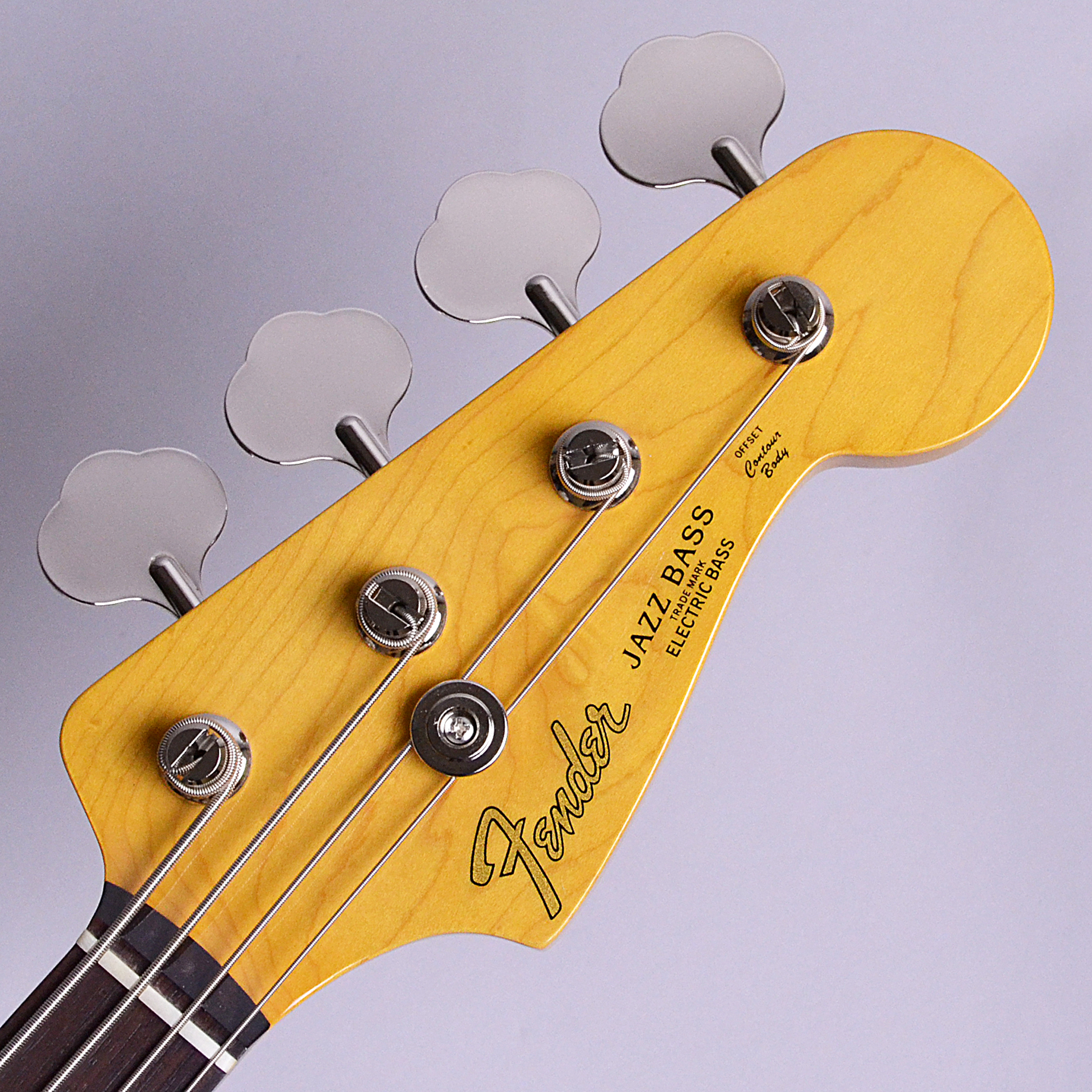Made in Japan Traditional 60s Jazz Bass Fretlessのヘッド裏-アップ画像